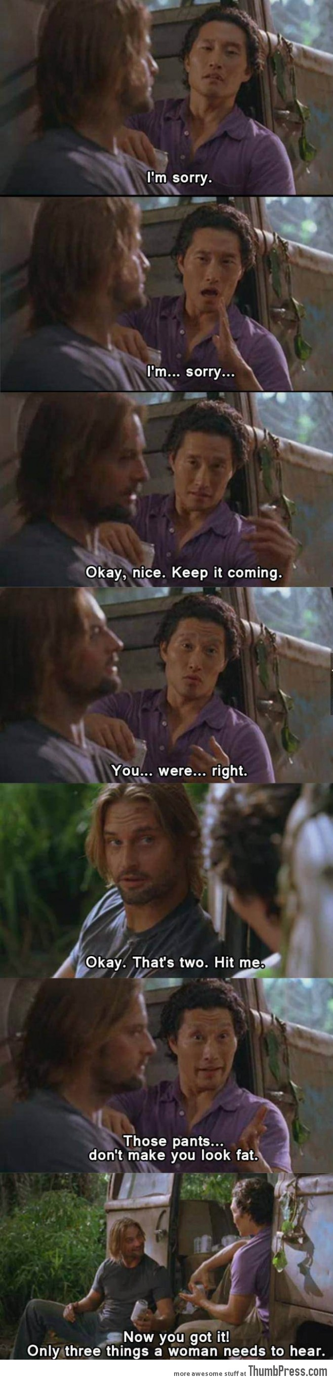 Just Sawyer telling the truth