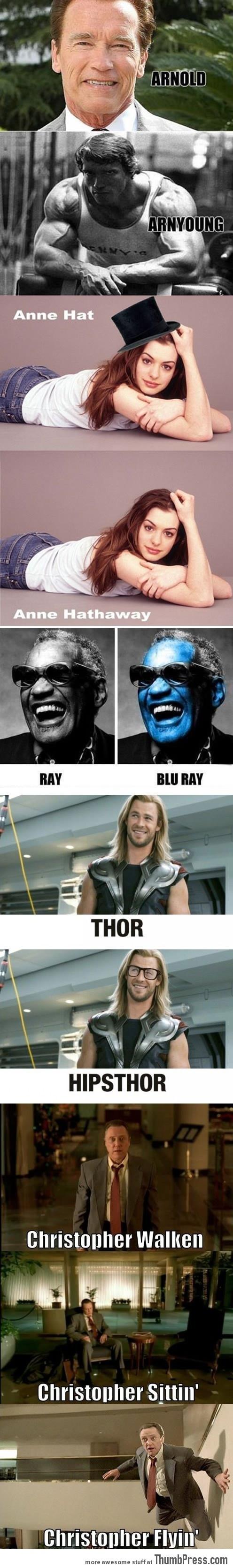 Just a compilation of celebrity puns