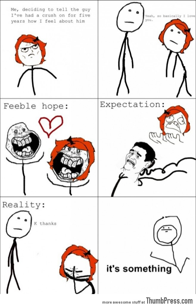 Telling my crush how I feel about him.