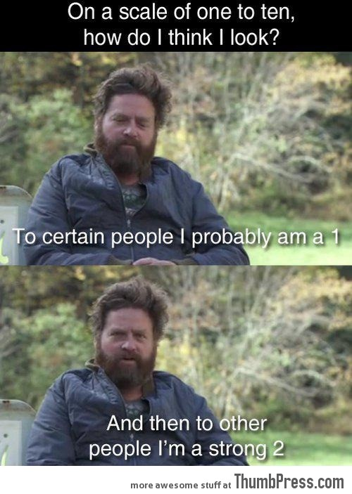 Zach Galifianakis is a confident man