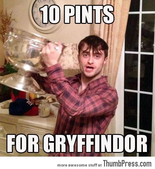 10 PINTS FOR GRYFFINDOR!
