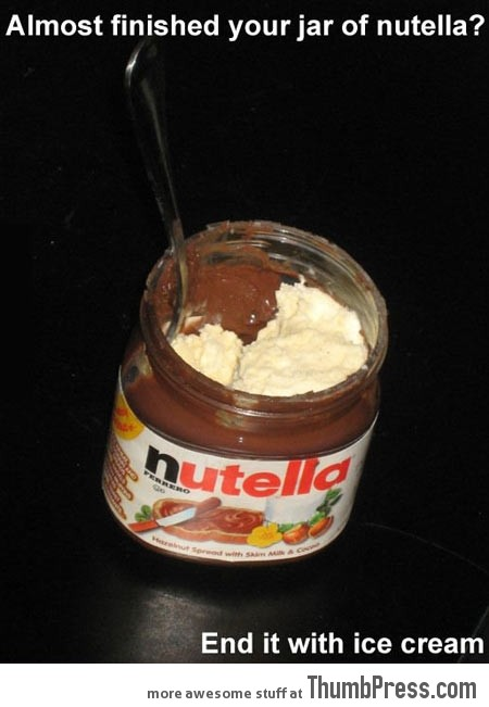 Absolutely brilliant way to end your jar of Nutella