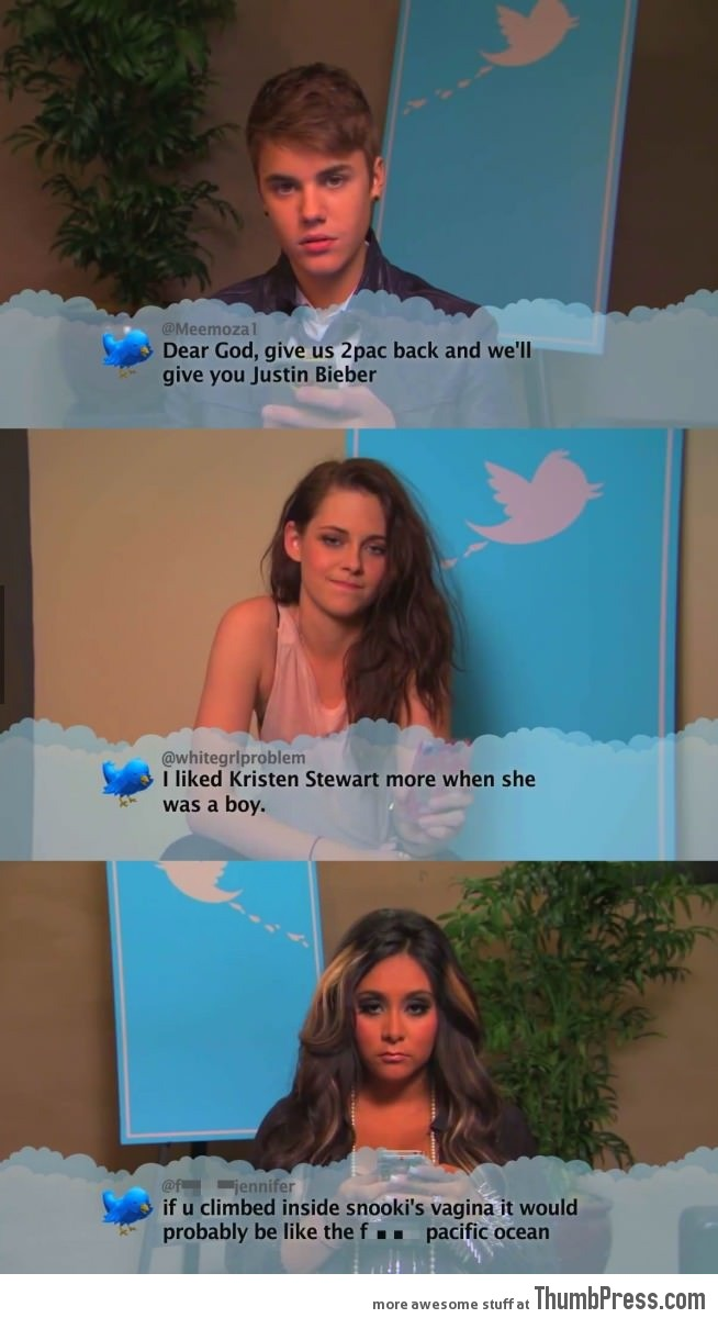 Celebrities read mean tweets about them...