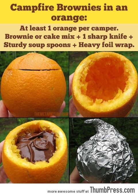 HOW TO MAKE CAMPFIRE BROWNIES!