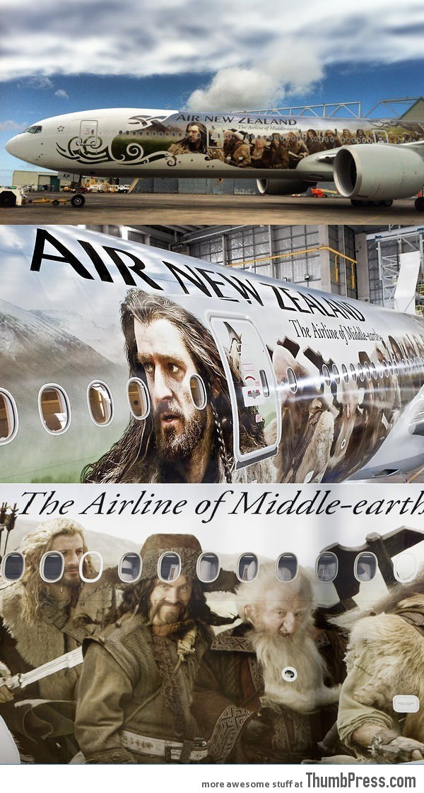 New Zealand airlines goes in Hobbit-style