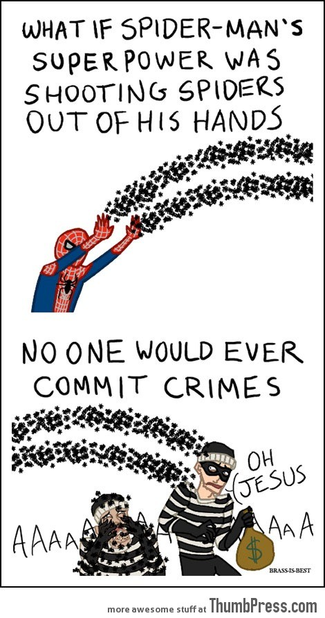 Shooting spiders…