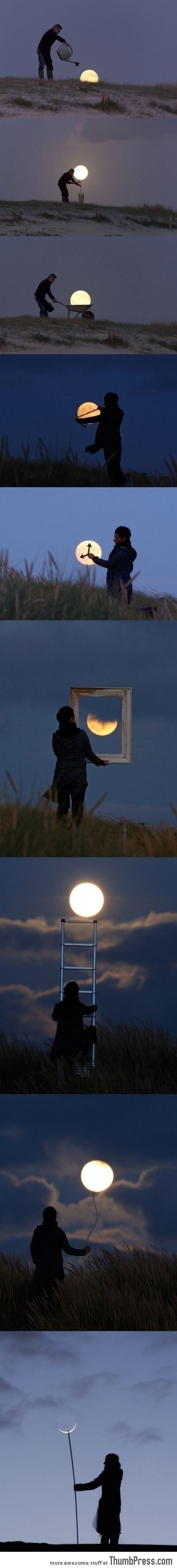 Awesome pics with the sun and the moon