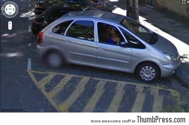 BUSTED by google maps!