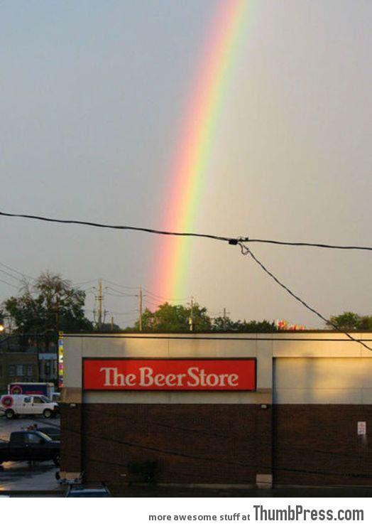 Beginning of rainbow