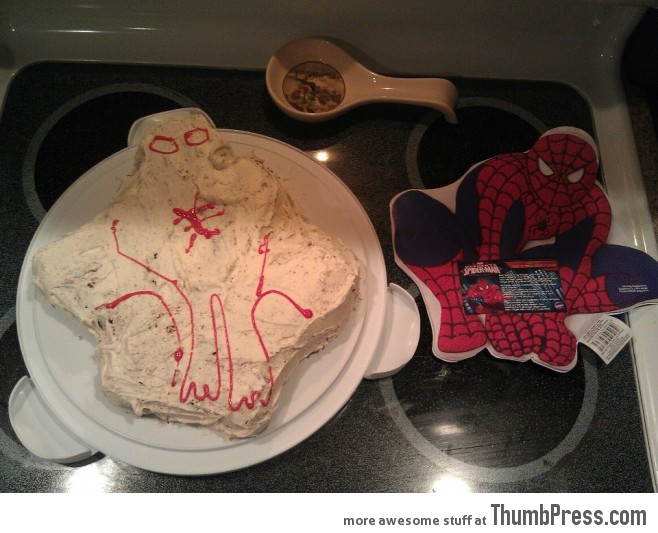 Made Spiderman birthday cake. Nailed it.
