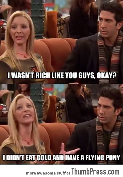 Phoebe knows the stuff