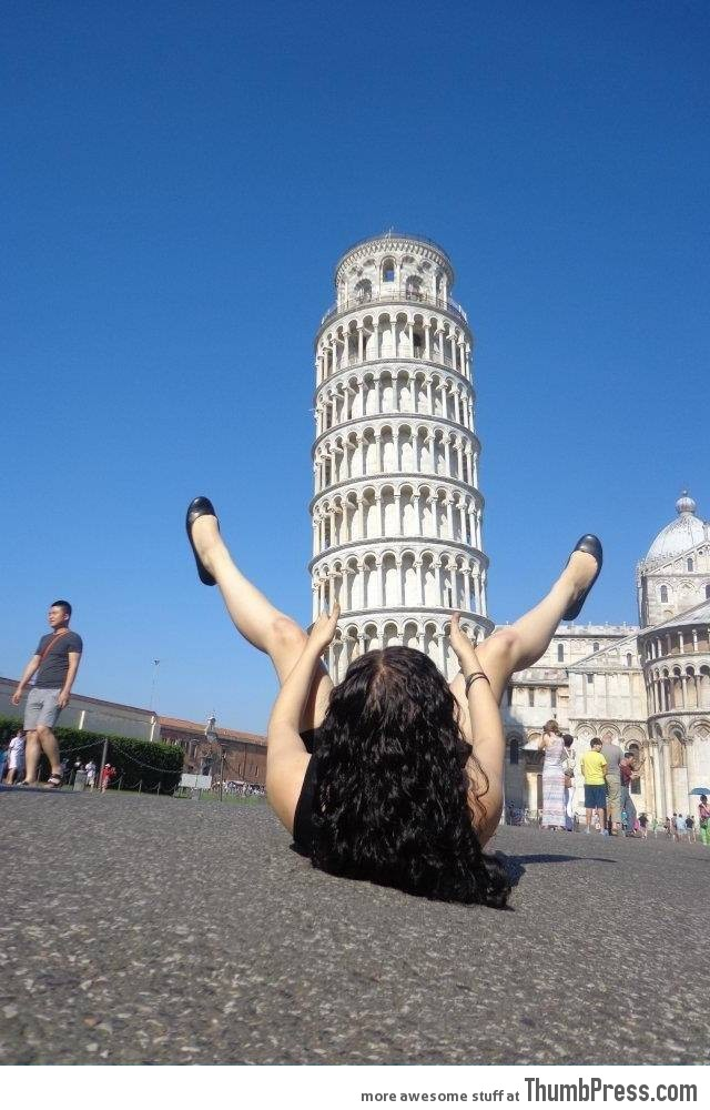 She thought outside of the box on her trip to Italy