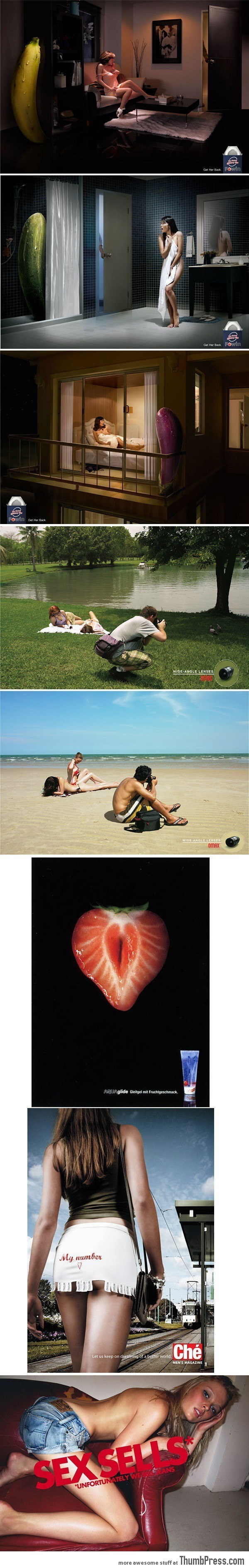 Some of the most sexually provocative ads