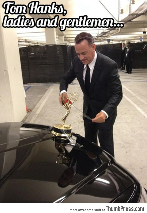 Tom Hanks is such a badass