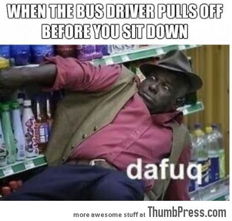 Awkward moment in Bus