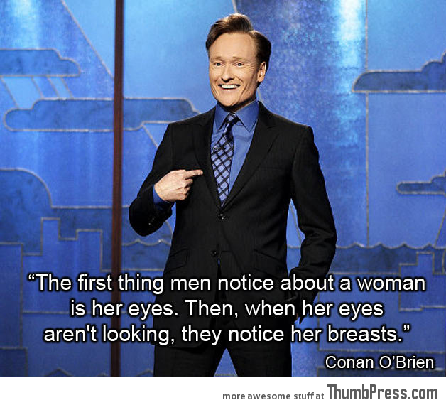 Conan hits it right on the boob