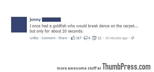 I HAD A GOLDFISH ONCE...