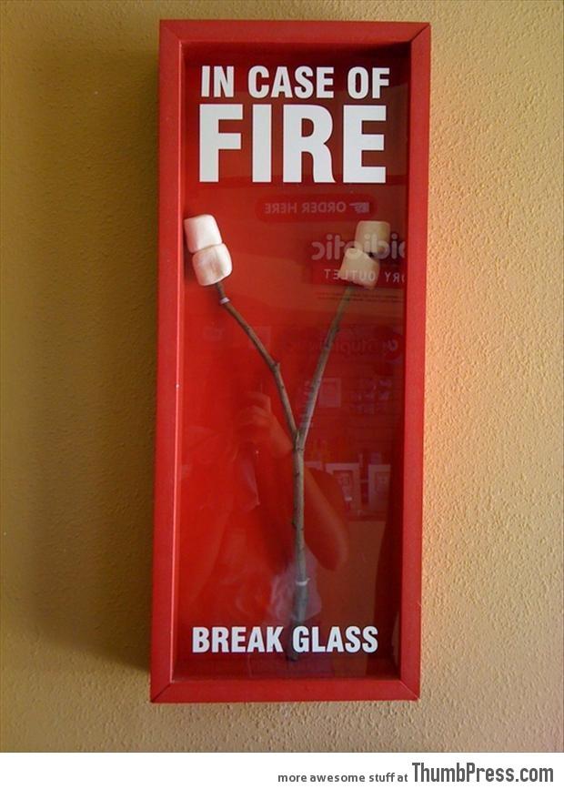 In case of fire