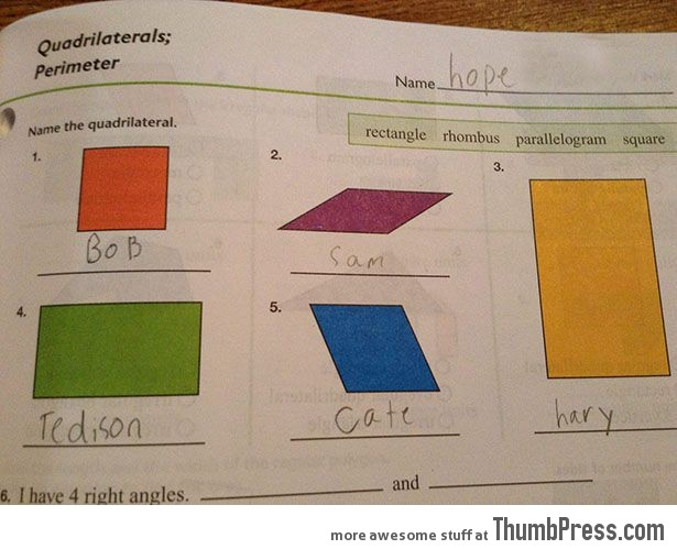 Name the quadrilateral