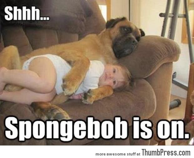 Shhh spongebob is on
