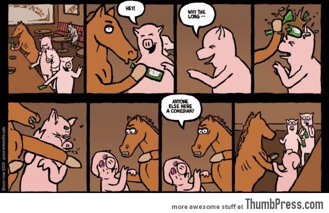So a horse walks into a bar
