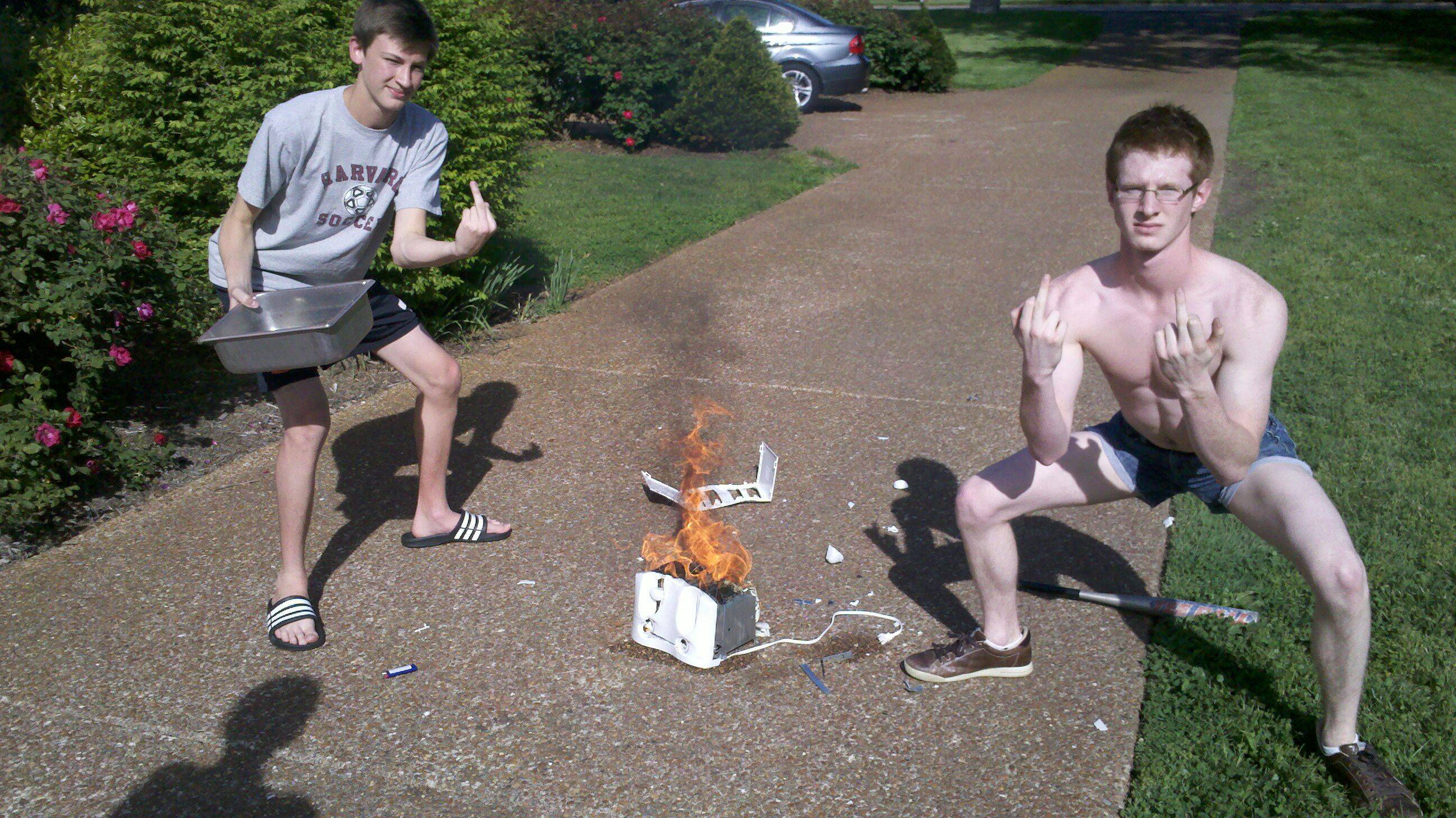 These toaster burning badasses