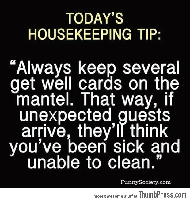 Best housekeeping tip