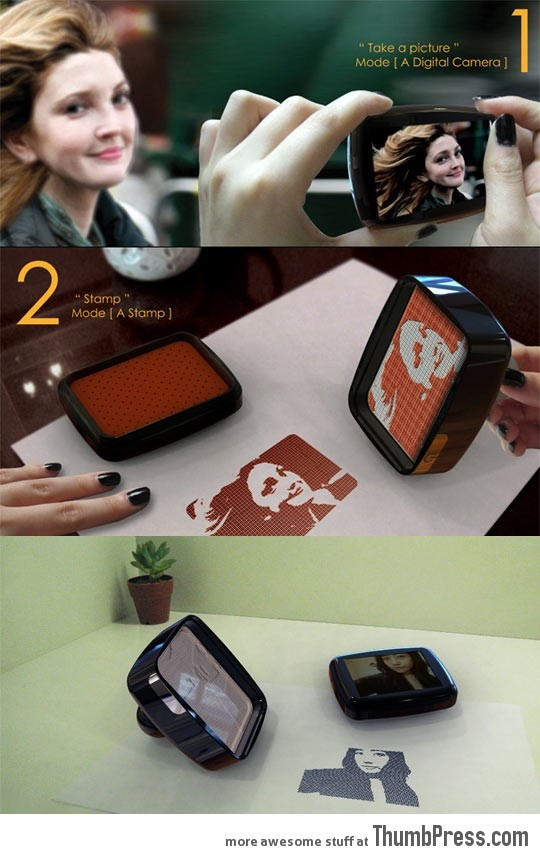 Camera that makes stamps out of your pictures