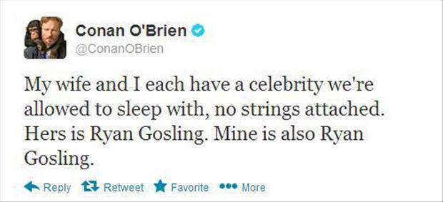 Conan likes Ryan Gosling