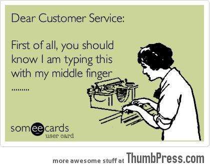 Dear Customer Service