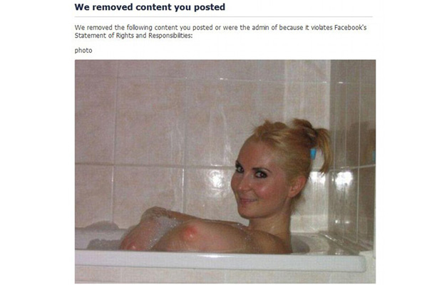 Despite what Facebook thinks, those are not the woman's breasts.