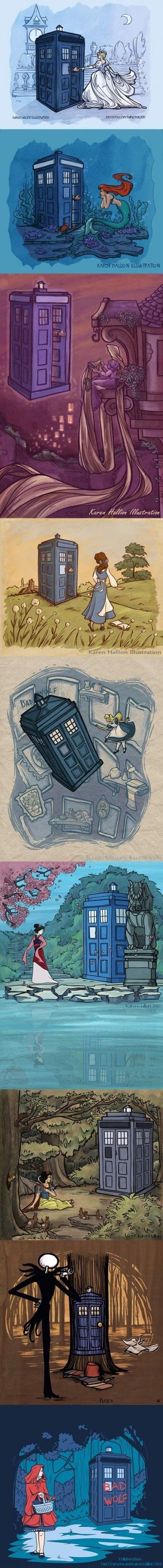 Doctor Who Hitting on Disney Princesses