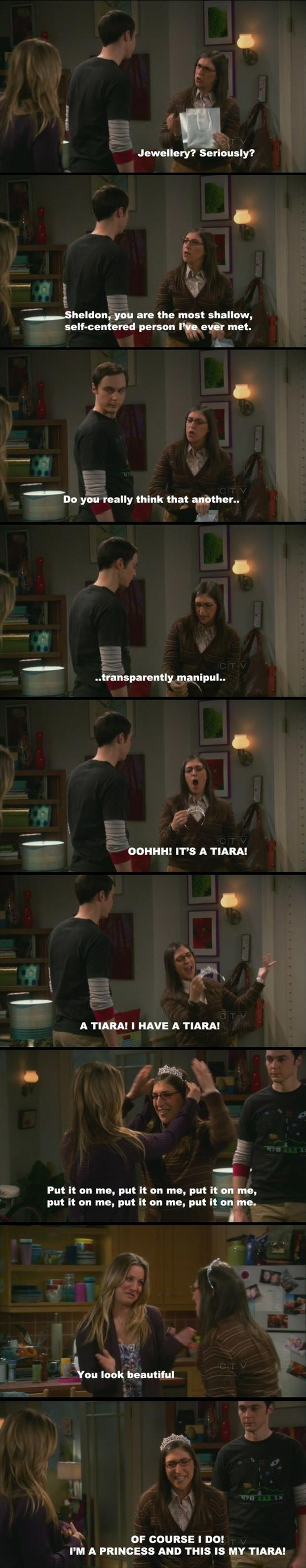 Funny Big Bang Theory Pictures - Sheldon bought Amy a tierra