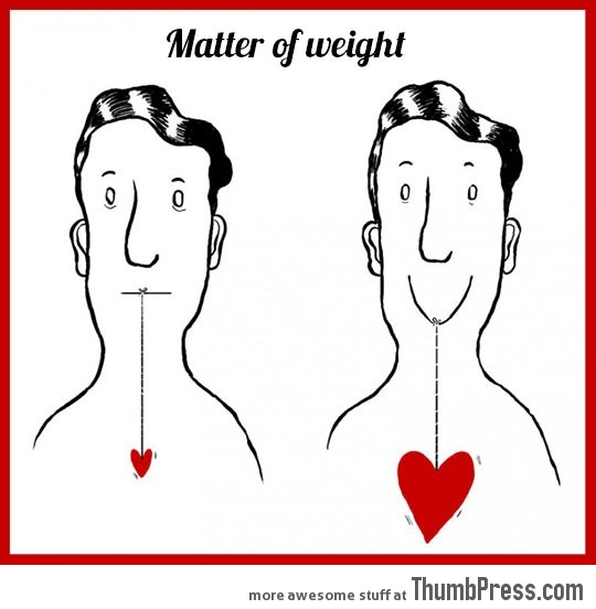 HAVE A FAT HEART.