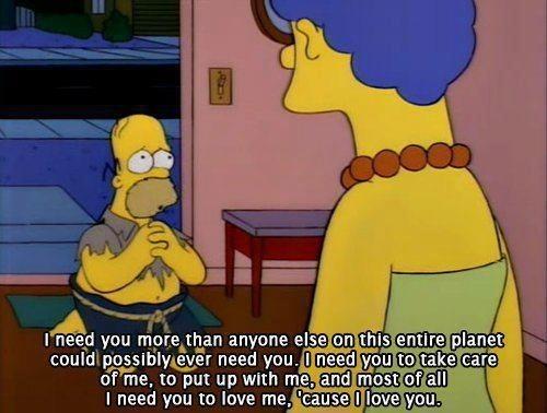 Homer Simpson on Love