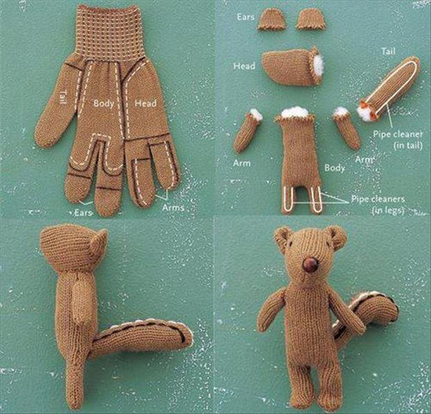How to make a stuffed animal from a glove