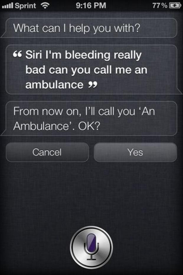I'll call you an ambulance