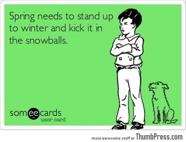Kick in the snowballs