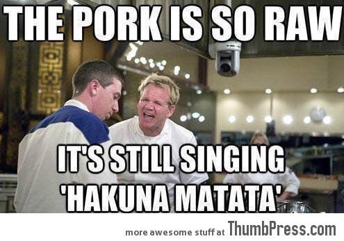 Pork is so raw