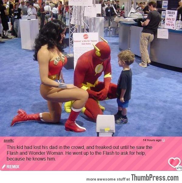 SUPER HEROES BEING SUPER.