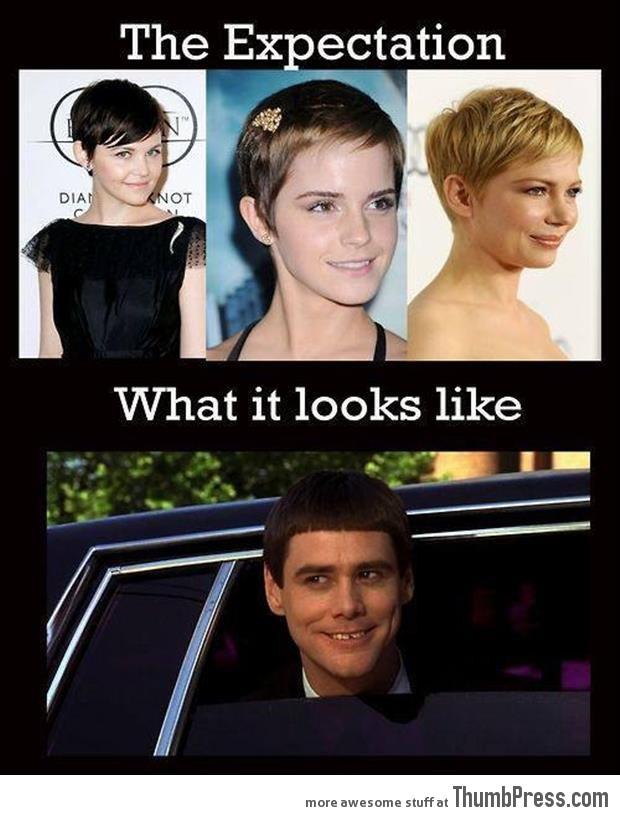 Short hair - Expectations vs. Reality