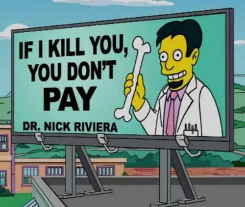 Simpsons sign jokes 5