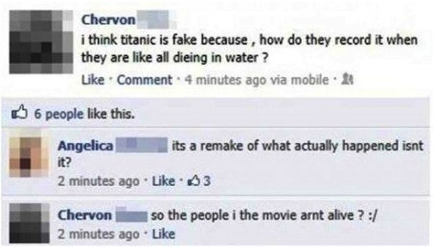 Stupid people from Facebook 1