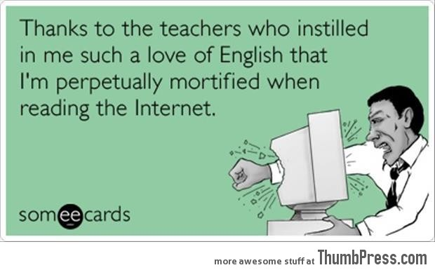Thanks to the teachers...
