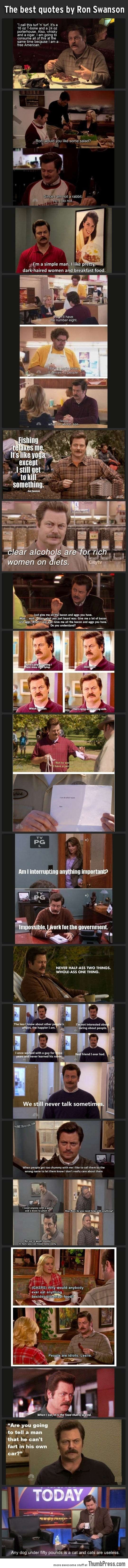 The best quotes by Ron Swanson