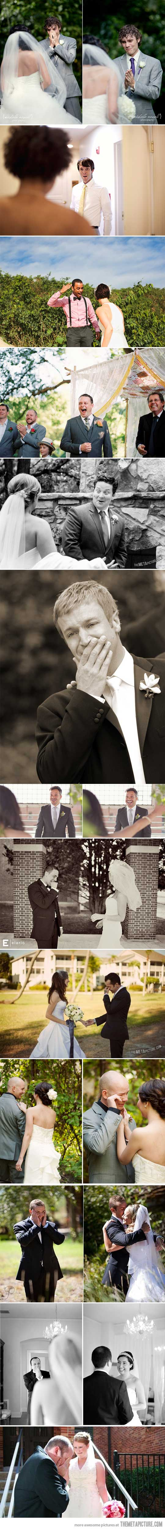 What Happens When Grooms See Their Brides For The First Time...