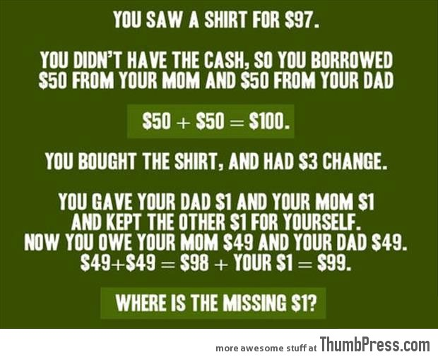 Where is the missing dollar