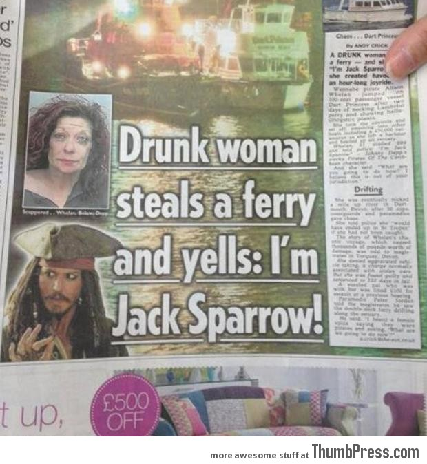 You must always put 'Captain' before Jack Sparrow