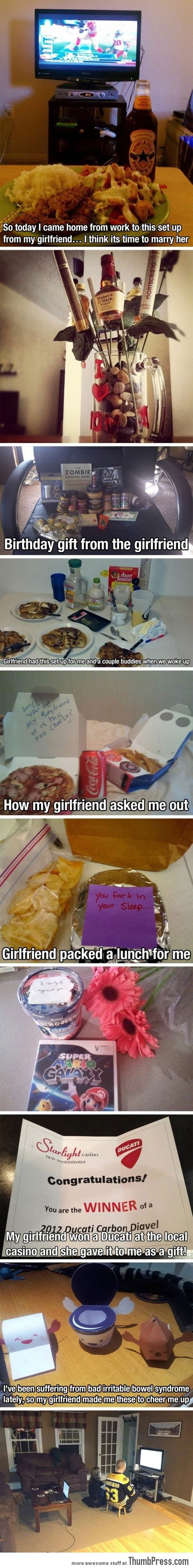 You know you should marry your girlfriend when...