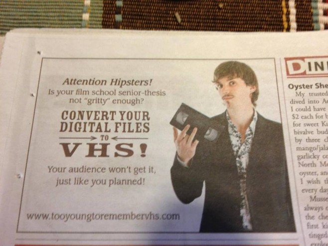 All you hipsters might want to check this out.